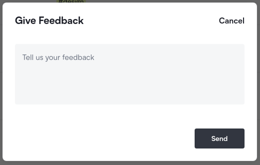 Feedback Form Screenshot