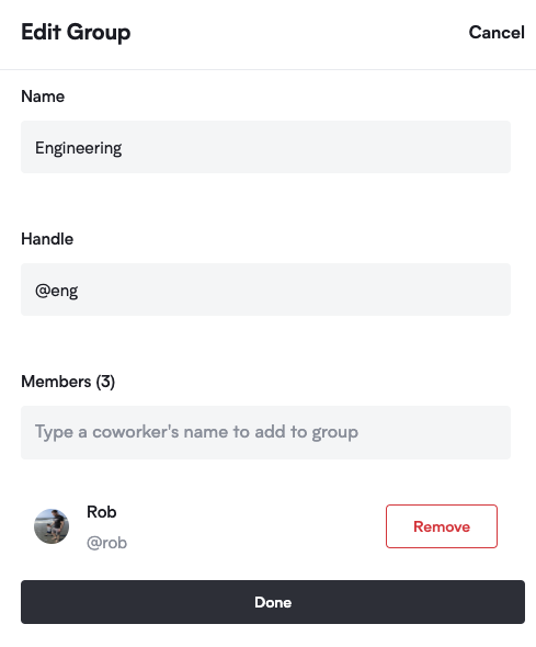 Define and edit groups from the admin interface